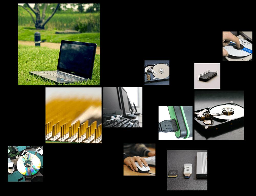 Servicios de reciclaje y reutilización de material informático usado